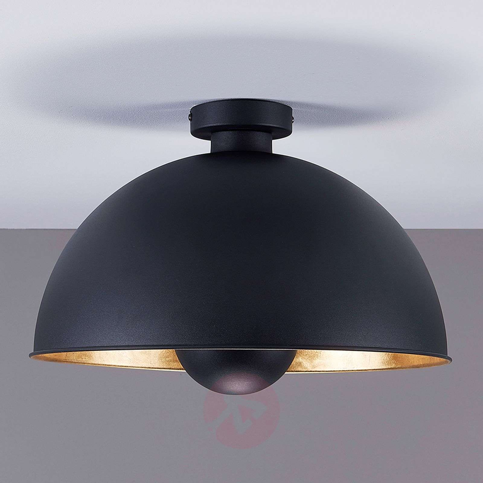 Attractive ceiling lamp Lya, black and gold-9620831-02