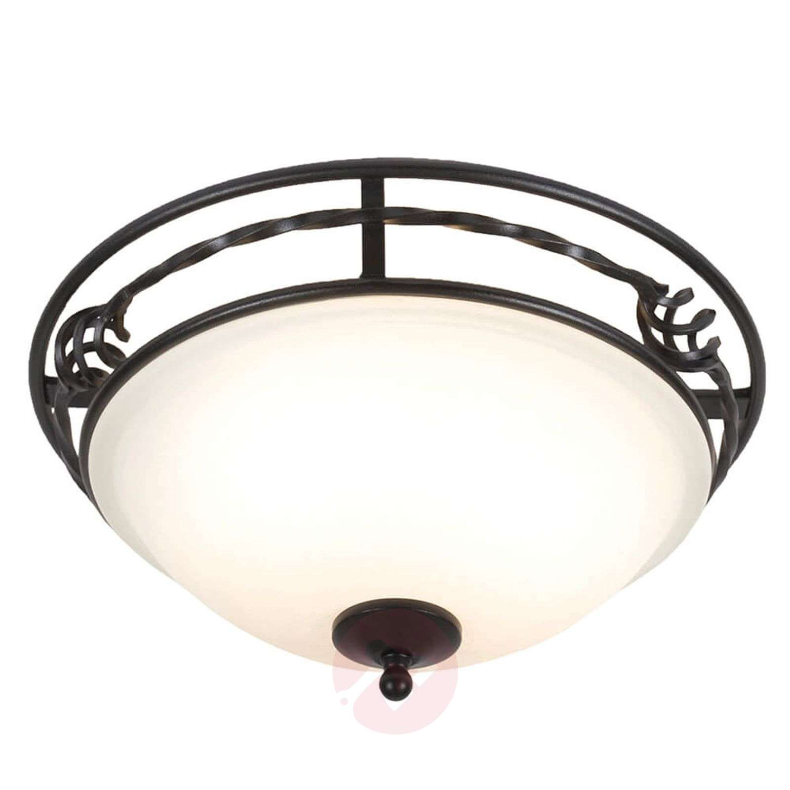 Attractive ceiling light Pembroke black frame-3048628-01