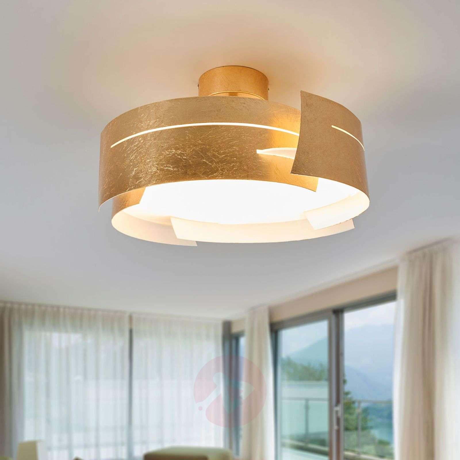Attractive LED ceiling light Keyron, matt gold-9625119-01