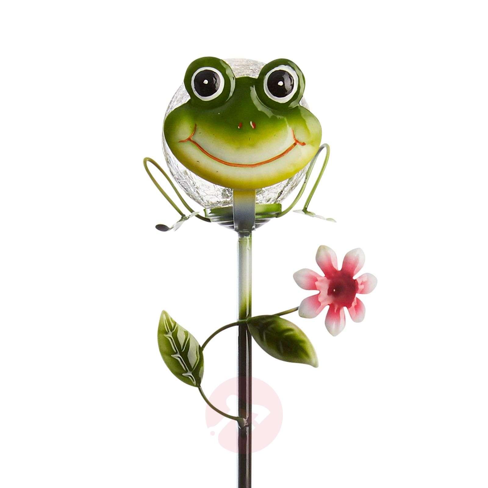 Attractive solar ground spike light Sicily Frog-1523082-01