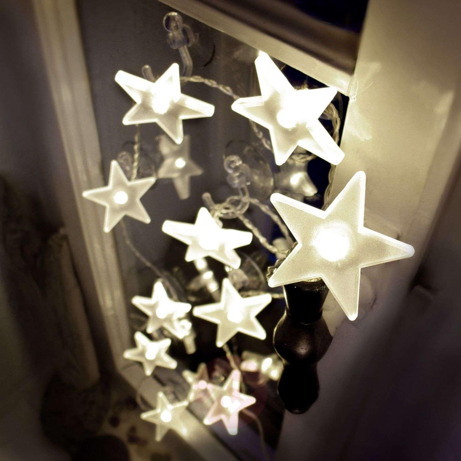 Attractive star LED string lights, matt, 2 m-4523115-01