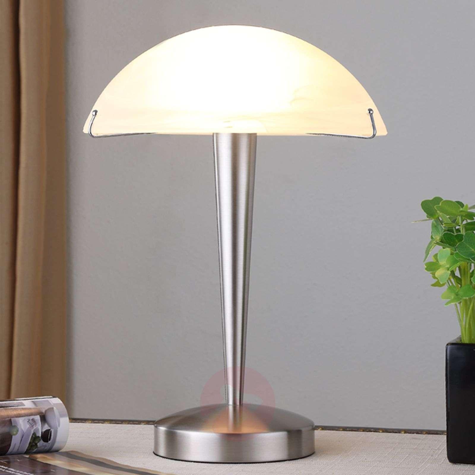 Attractive table lamp Viola, matt nickel-9620813-01