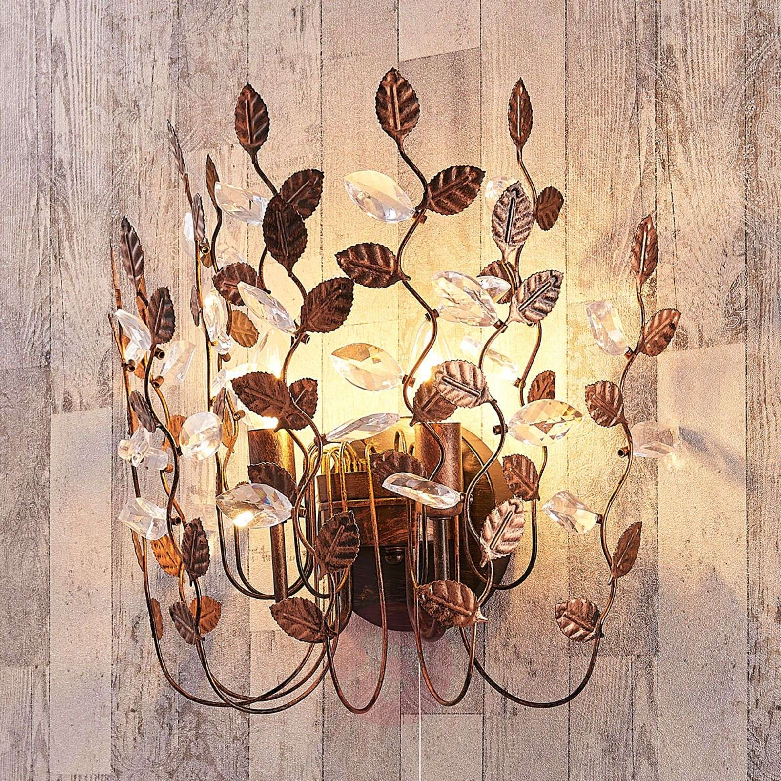 Attractive wall light Amendera, black-gold-9621846-02