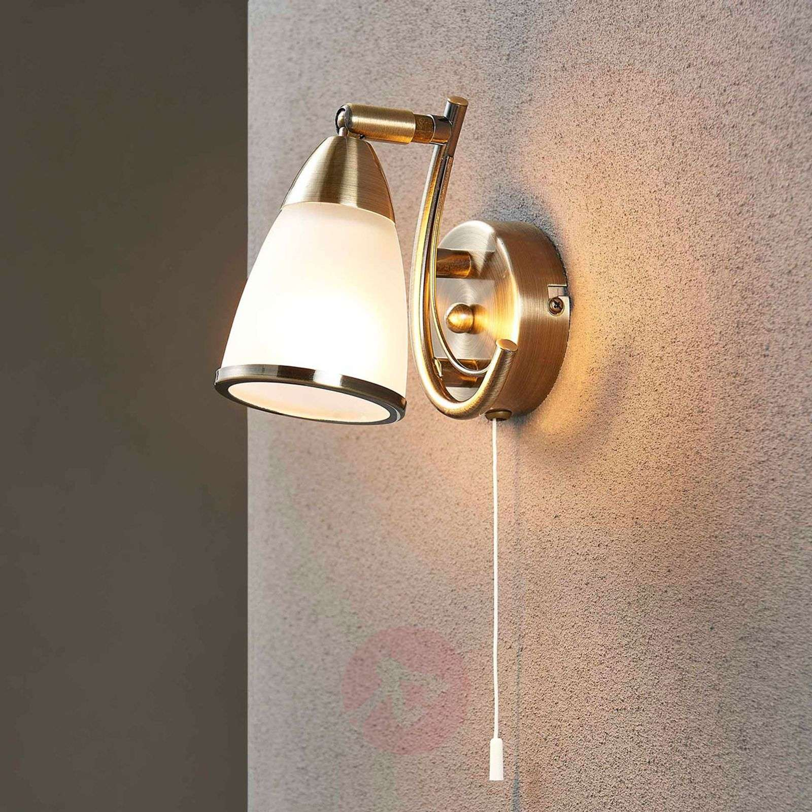 Attractive wall light Irma, antique brass-9620747-07