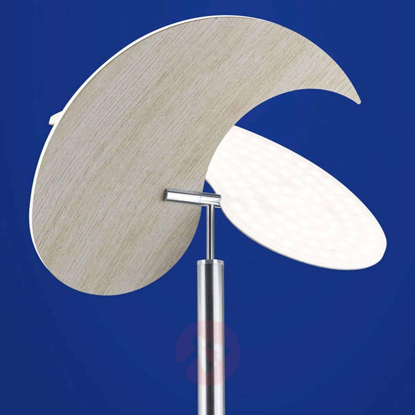B-Leuchten Malibu LED floor lamp, light wood-1554003-01