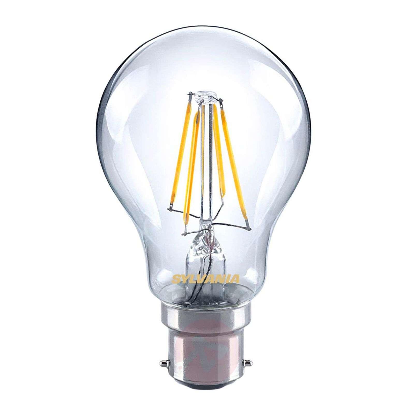 B22 4W 827 LED filament bulb, clear-8530197-01