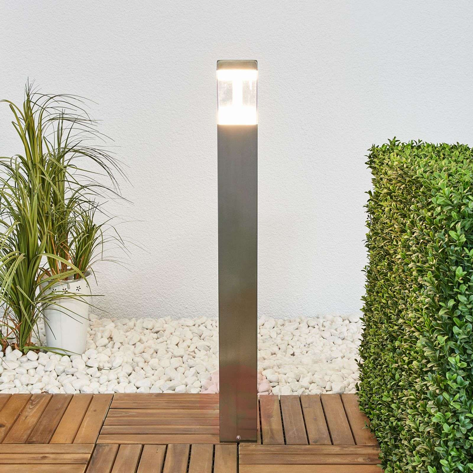 Baily stainless steel path light with LEDs-9988147-01