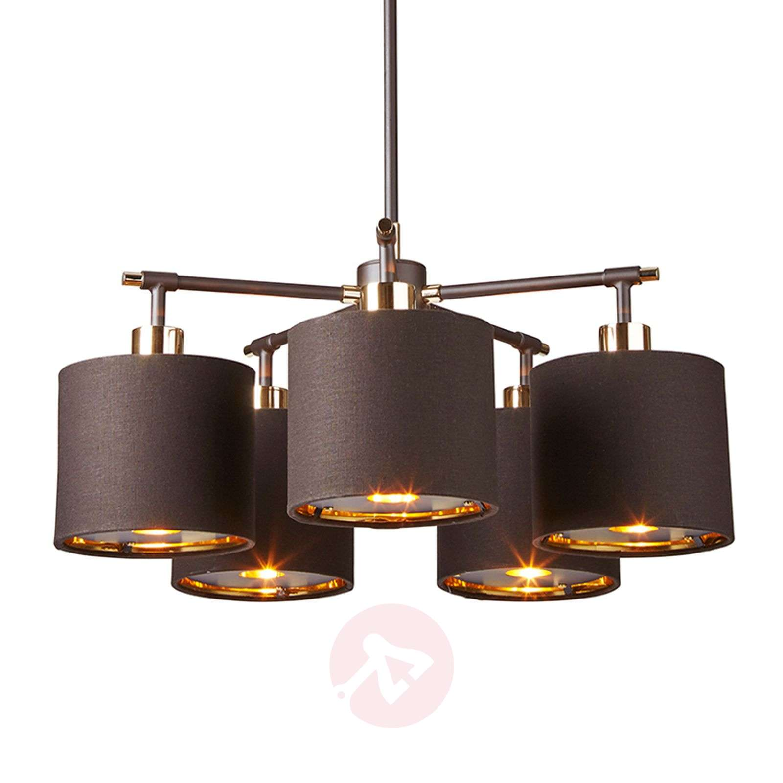 Balance five-bulb hanging light in brown-brass-3048450-01