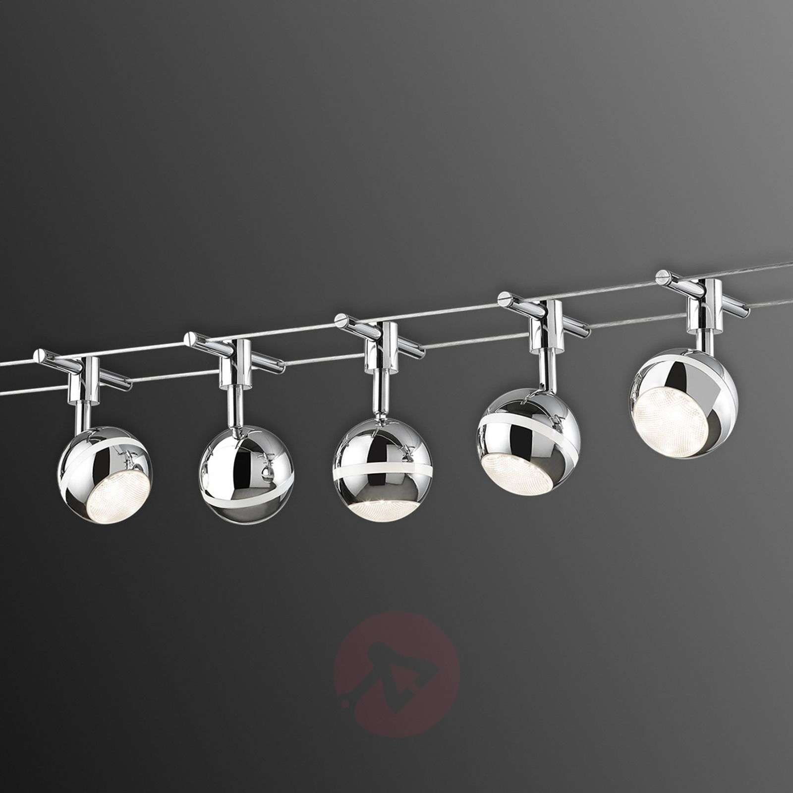 Baloubet LED cable system in chrome-9005057-01