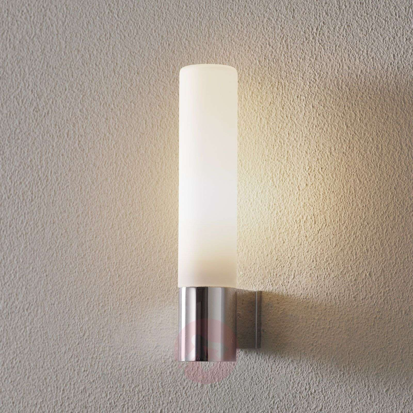 Bari Bathroom Wall Light with White Glass-1020012-02