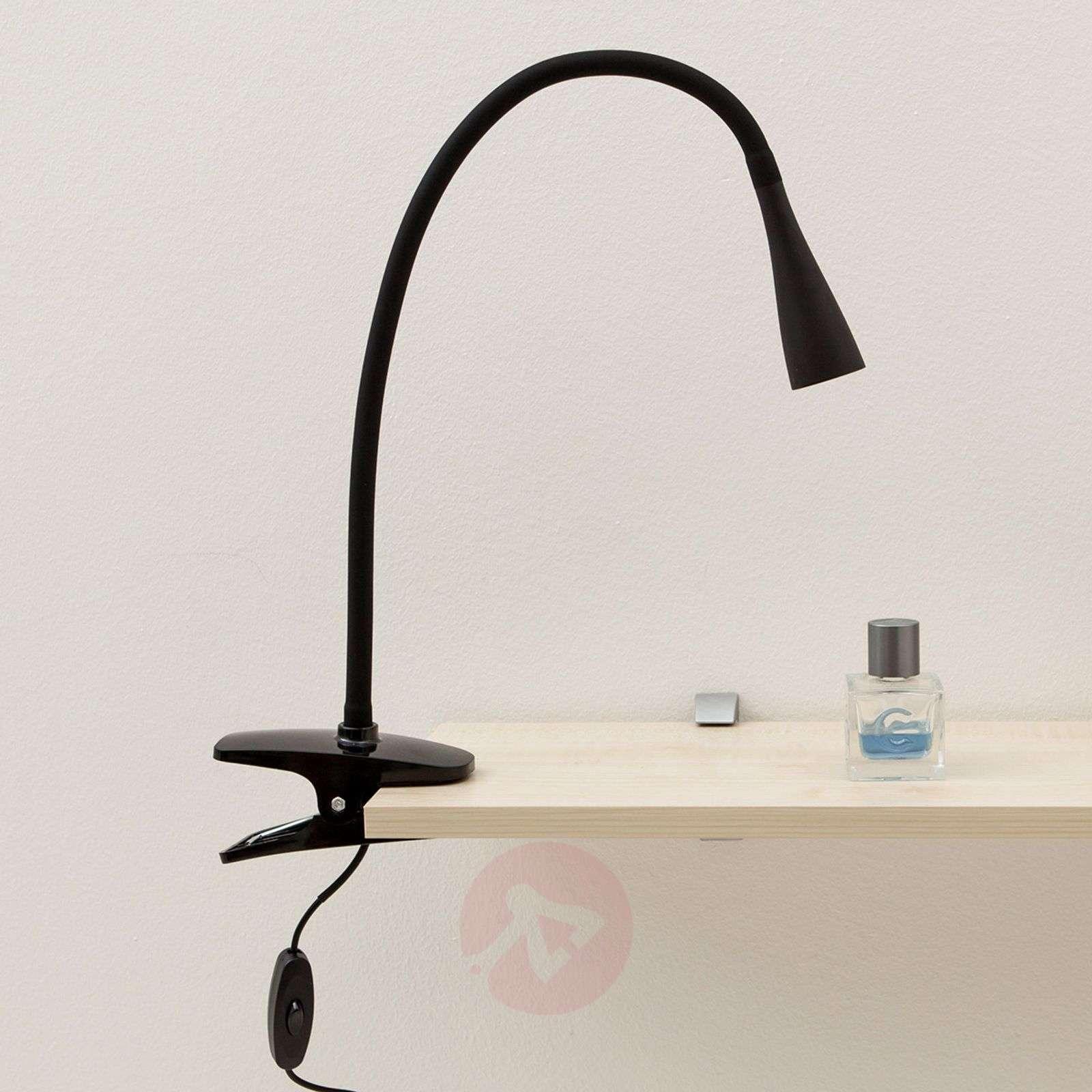 Baris Filigree LED Clip-on Lamp in Black-9643005-01