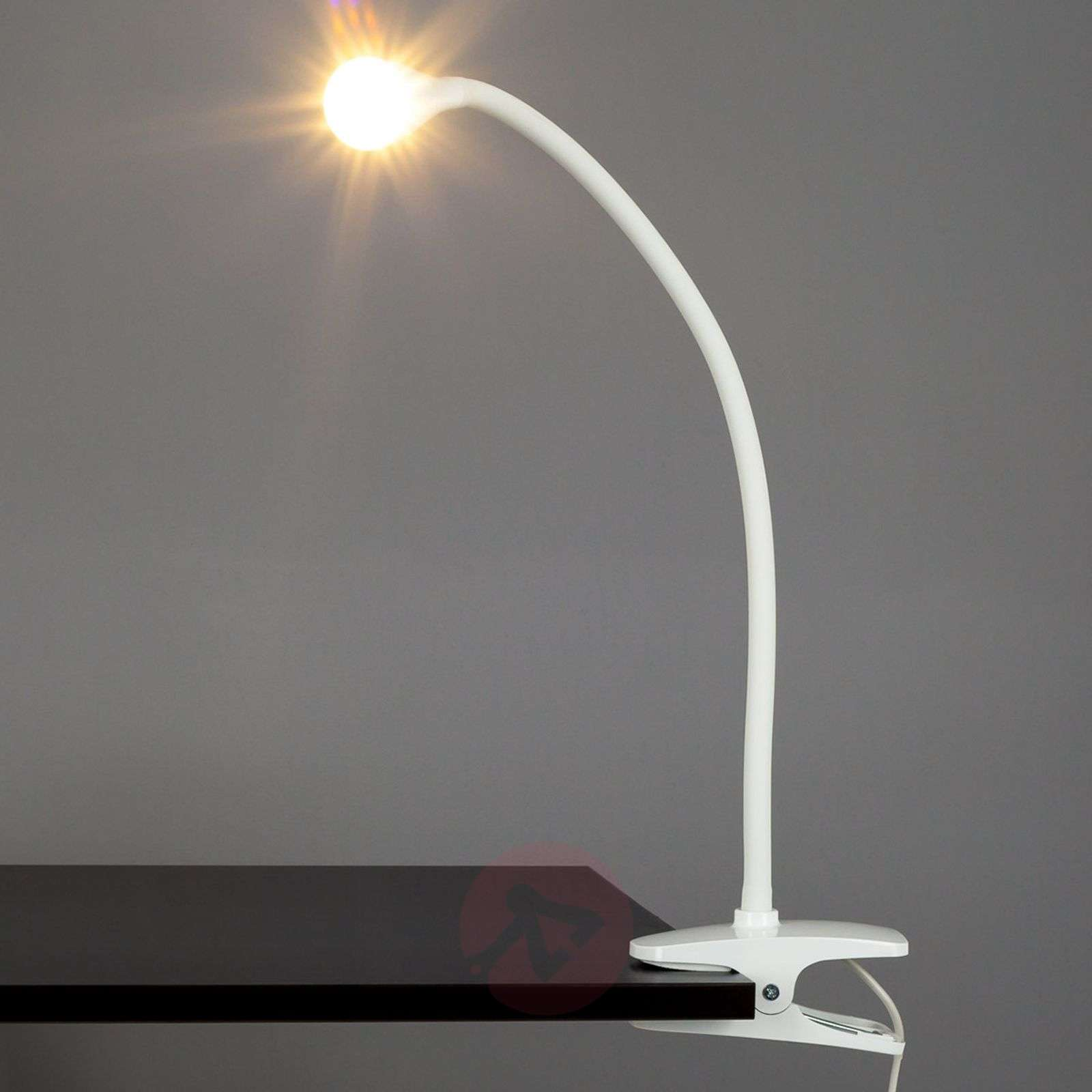 Baris, Narrow LED Clip-on Lamp in White-9643006-01