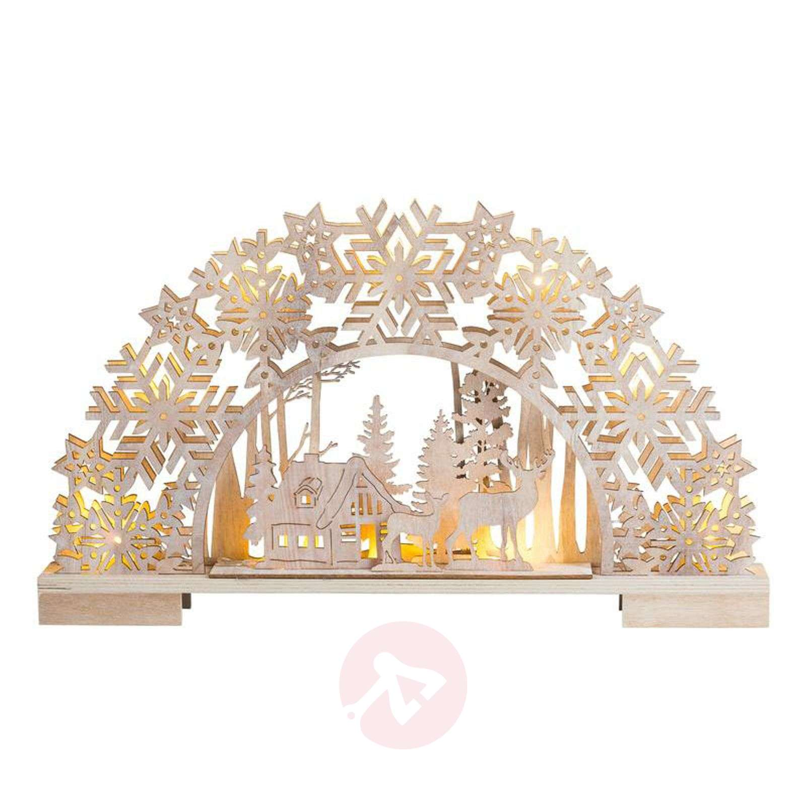 Battery-powered LED candle arch Country Style-8501232-01