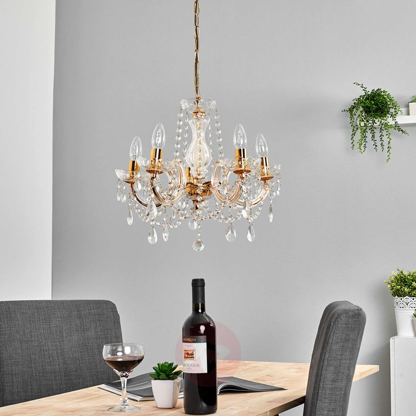 Beautiful Marie Therese chandelier, 5-fl.-8570160-04