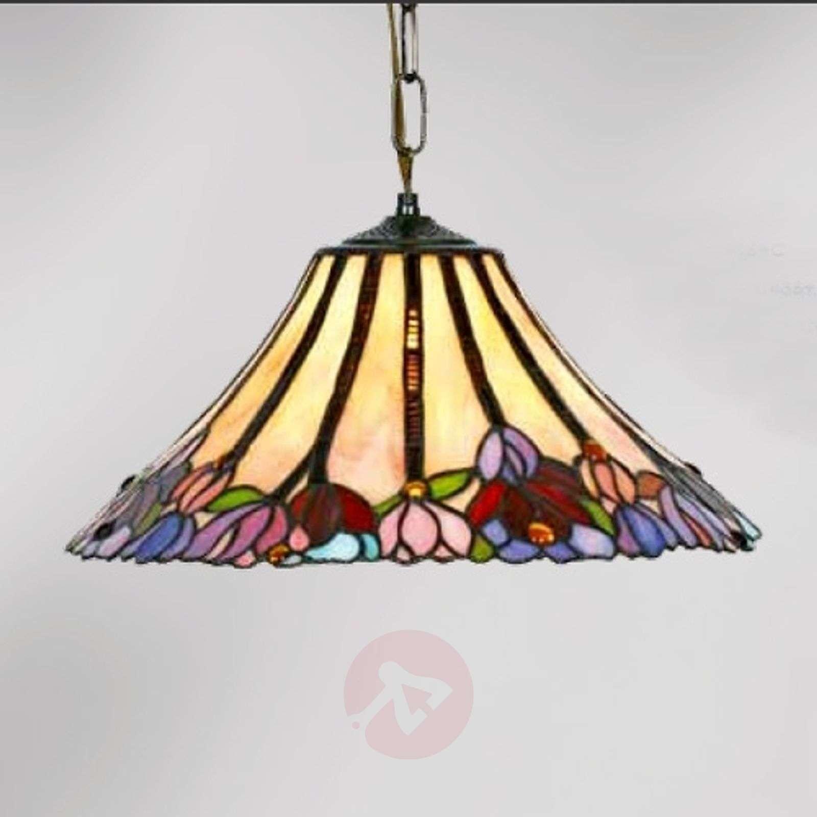 Beautiful Tiffany-style hanging light Tori, 1-bulb-1032257-01