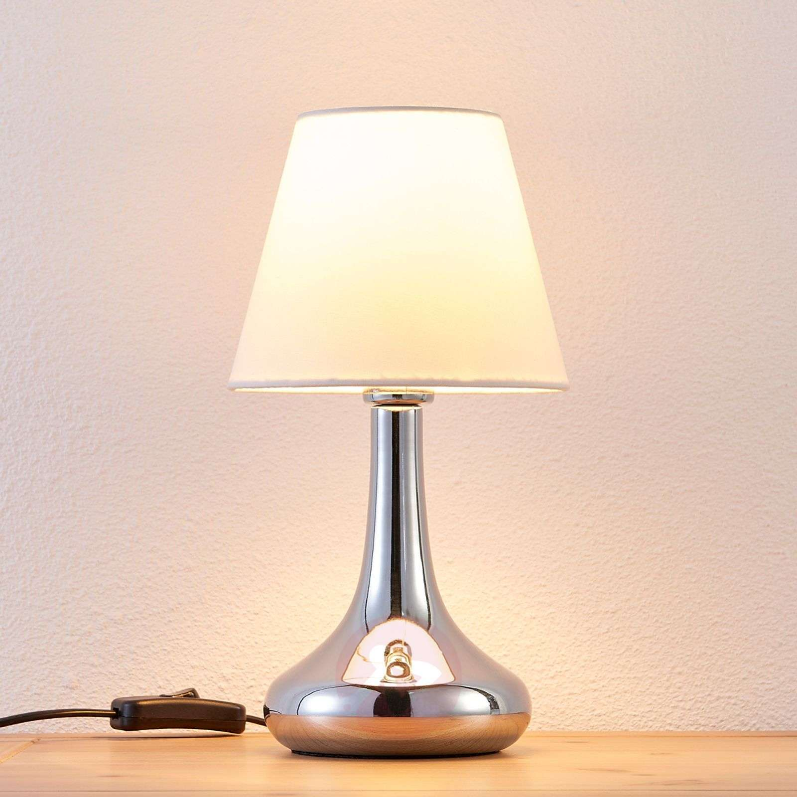 Beautifully-shaped fabric table lamp Henrik-9621043-02