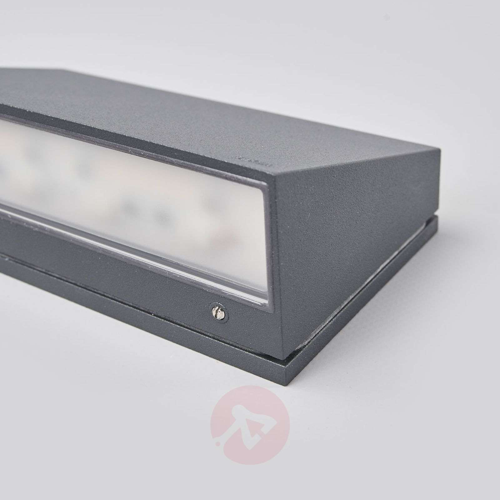 Bega LED outdoor wall light Dennis, aluminium-1566017-01