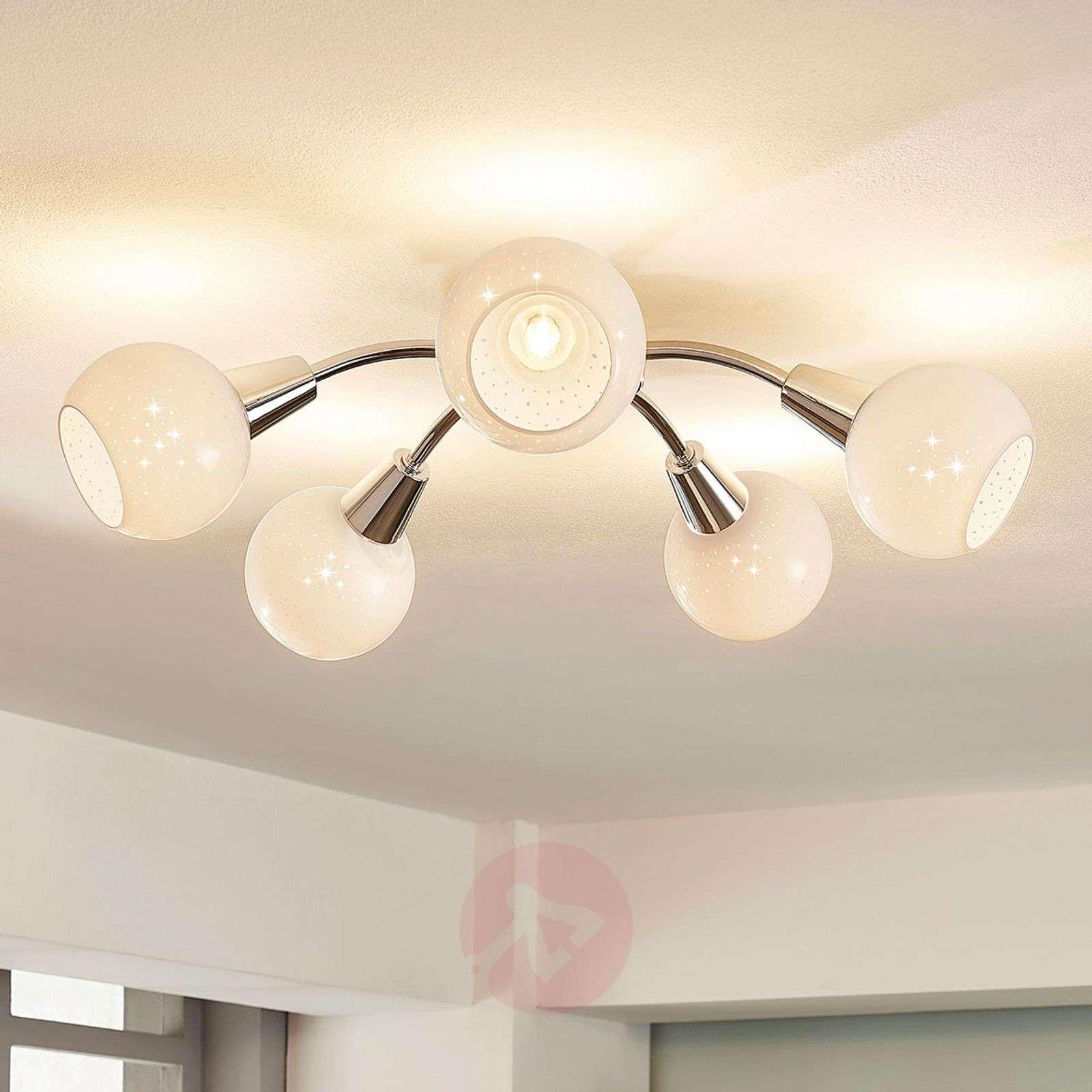 Benedikt round LED ceiling lamp, five-bulb | Lights.ie