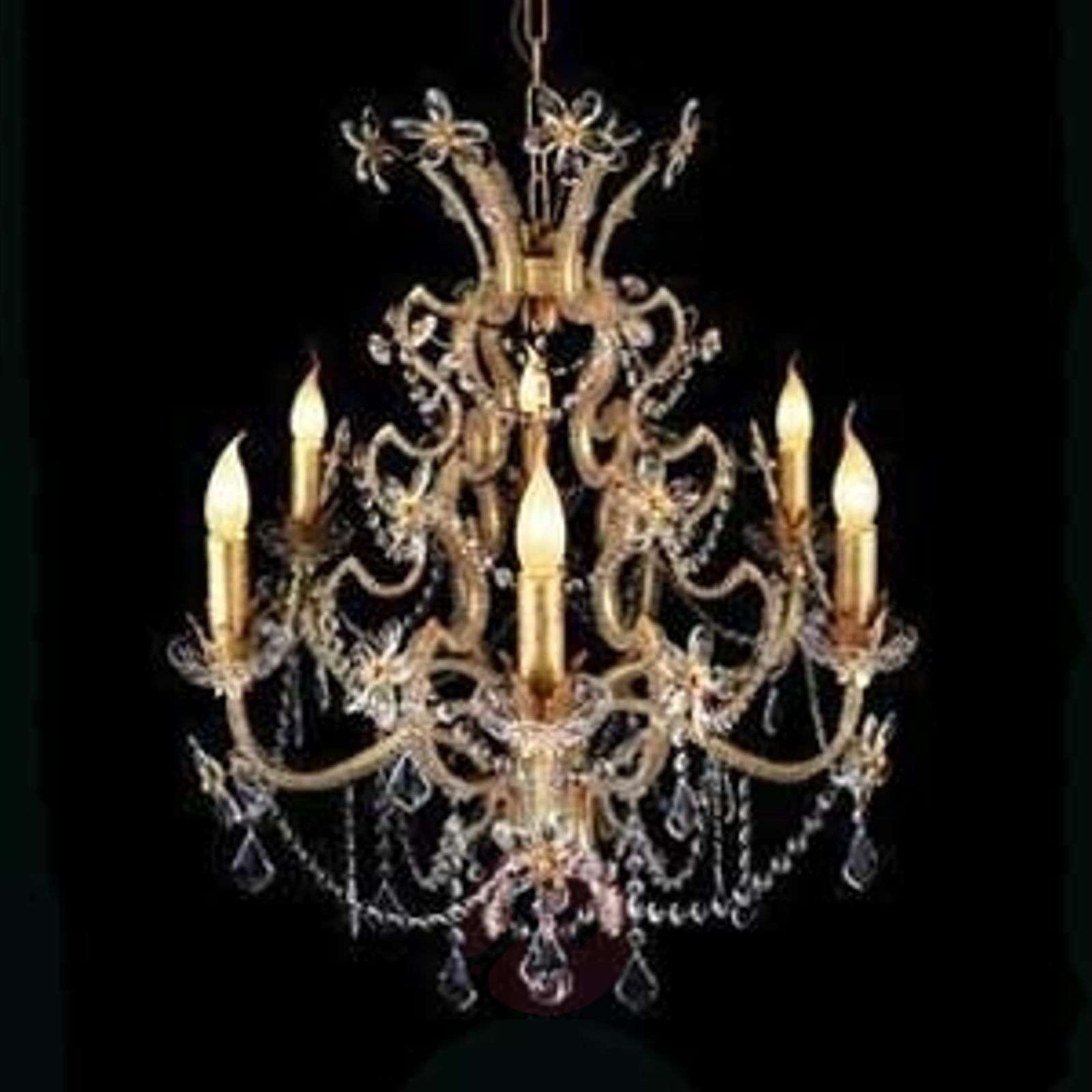 BENETTA chandelier, rich in details, 6-bulb-1032224-01