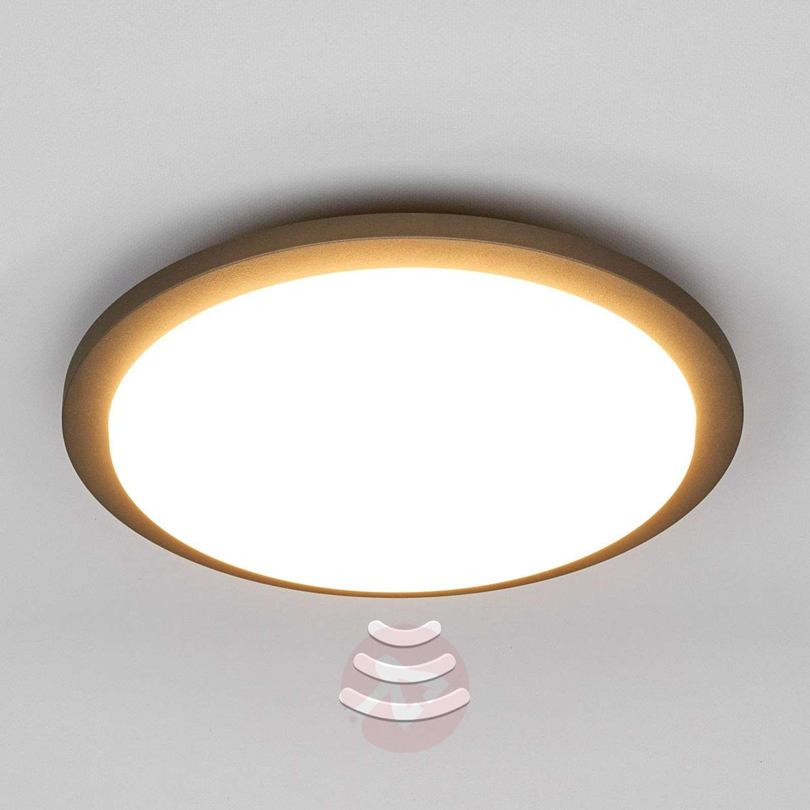 Benton LED outdoor ceiling light with sensor-9619047-013