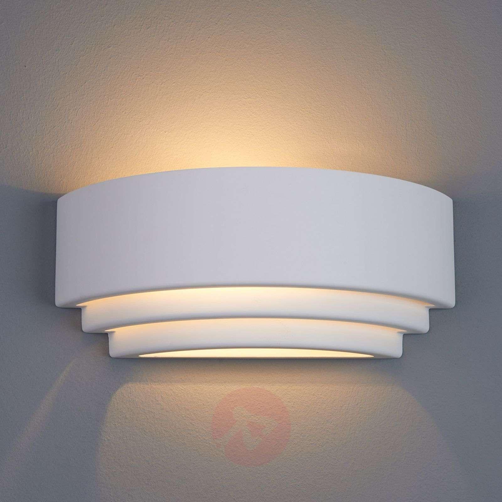 Biana Wall Light Semi-Circular Plaster-9613023-01