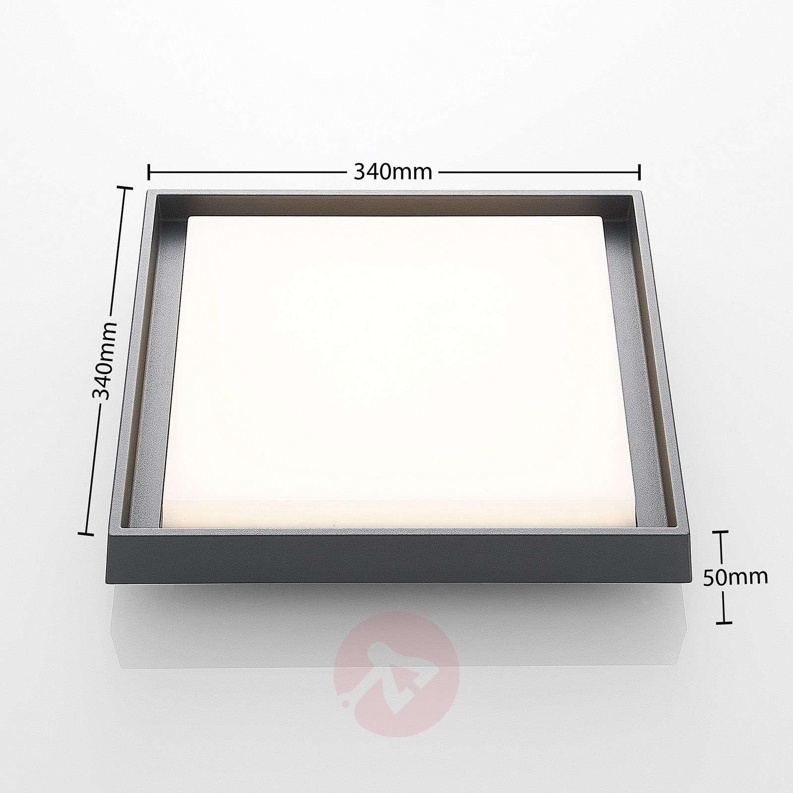Birta LED outdoor ceiling light, angular, 34 cm-9969130-02