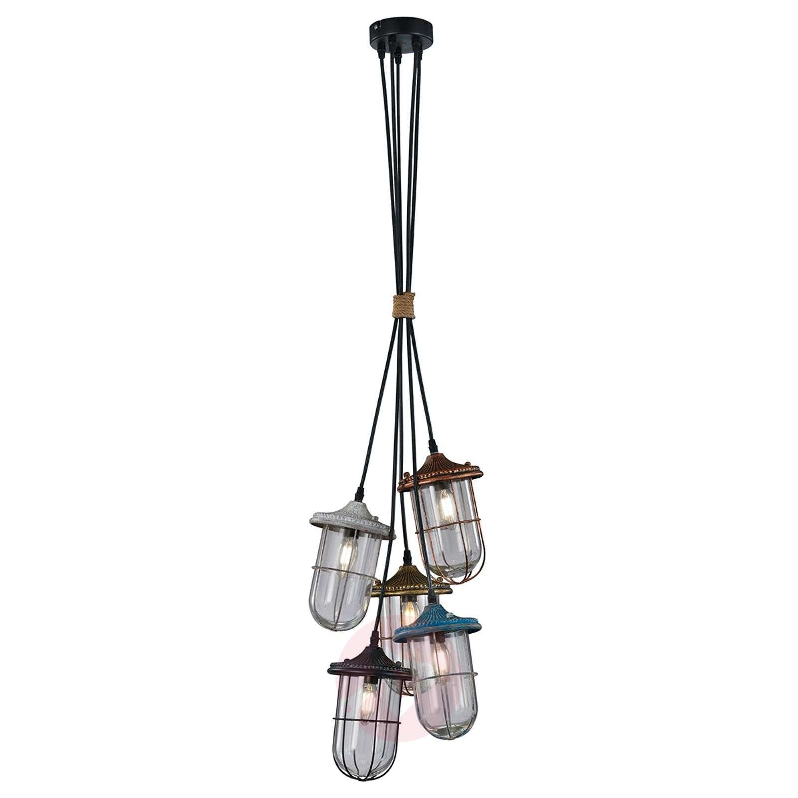Birte stylish pendant light, 5-bulb-9004800-01