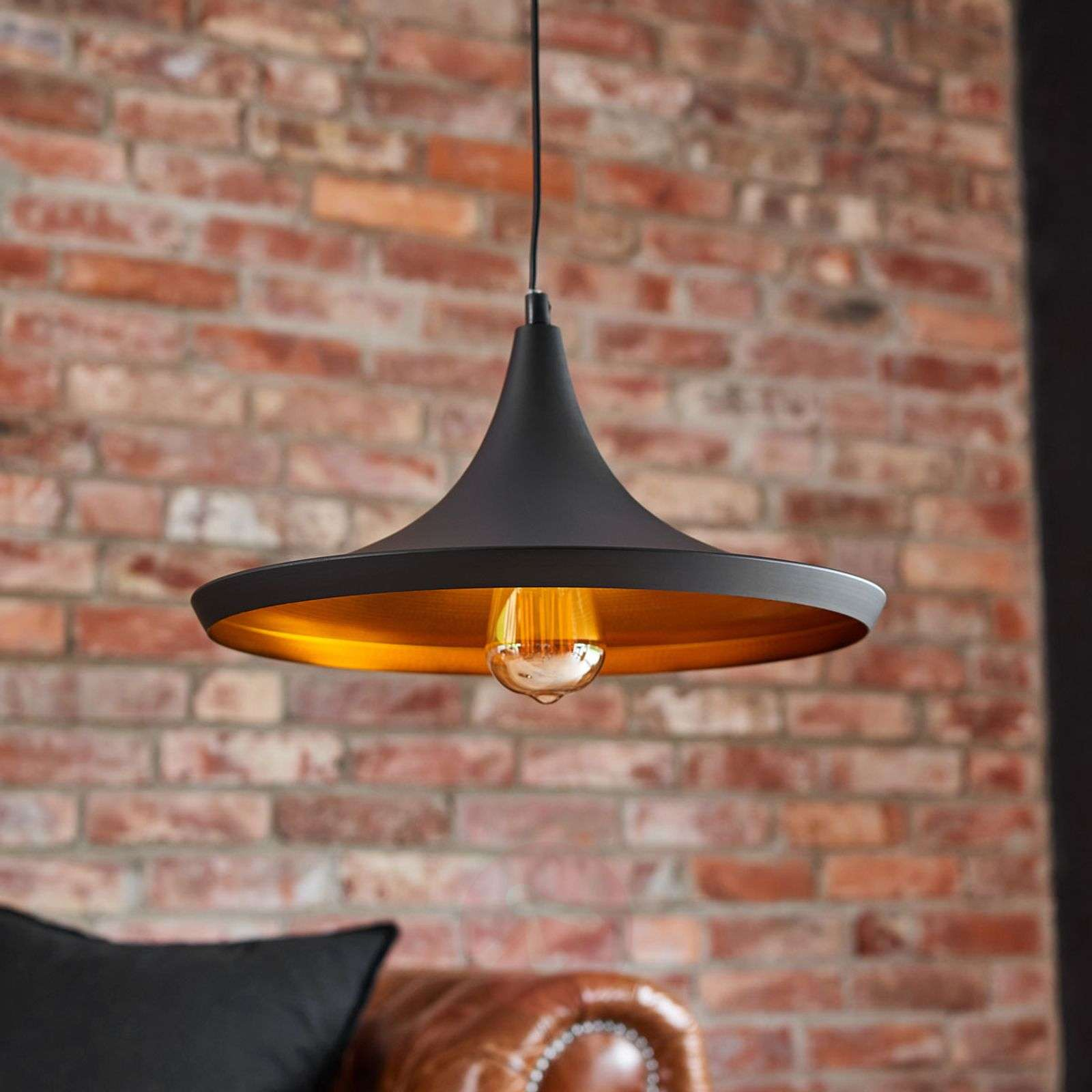 Black and copper-coloured Broadway pendant light-3006296-01