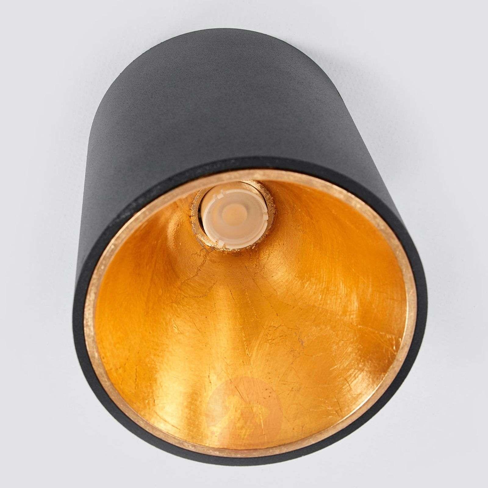 Black and gold LED ceiling lamp Juma, round-3035011-02