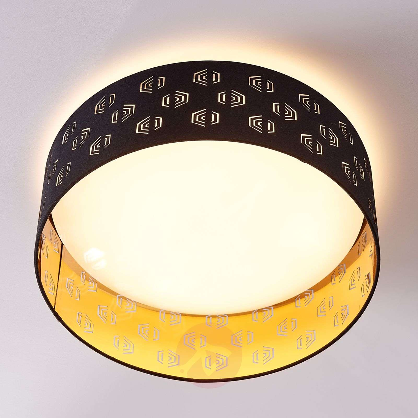 Black and gold LED ceiling lamp Marsel, fabric-9620941-02