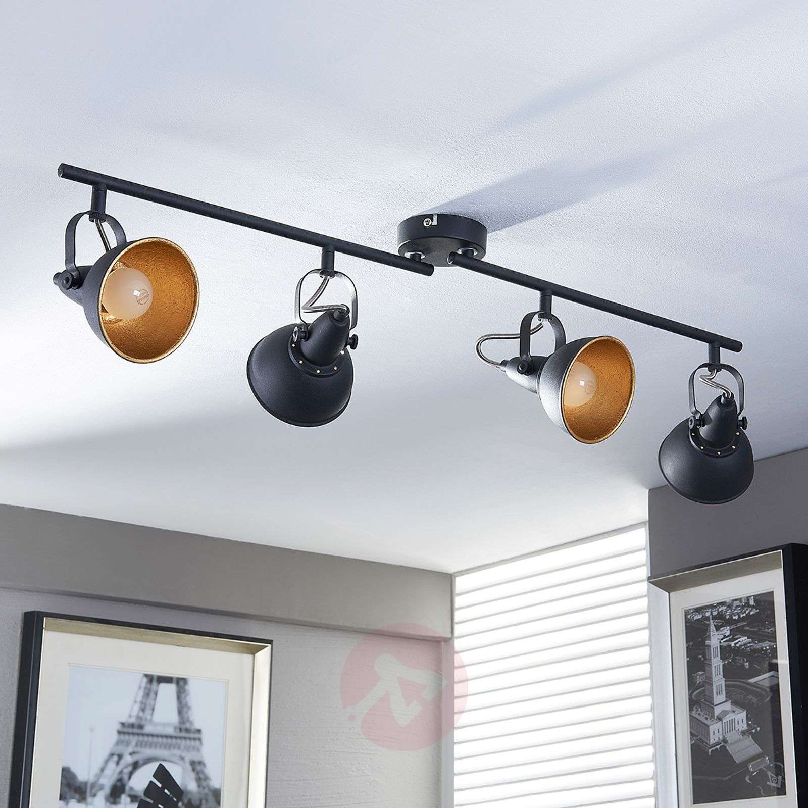Black and golden kitchen spotlight Julin, 4 bulbs-9620732-03