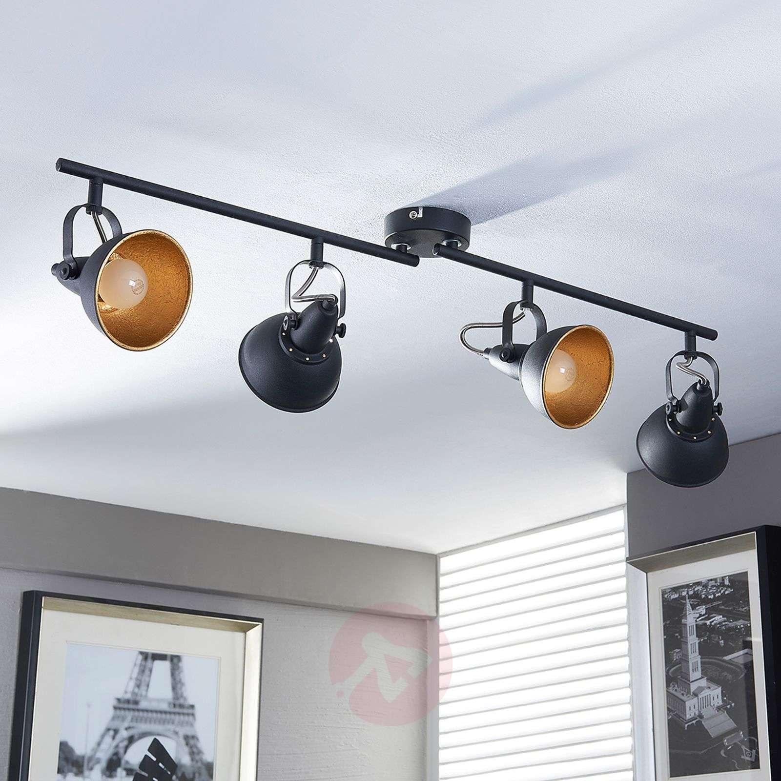 Black and golden kitchen spotlight Julin, 4 bulbs-9620732-03