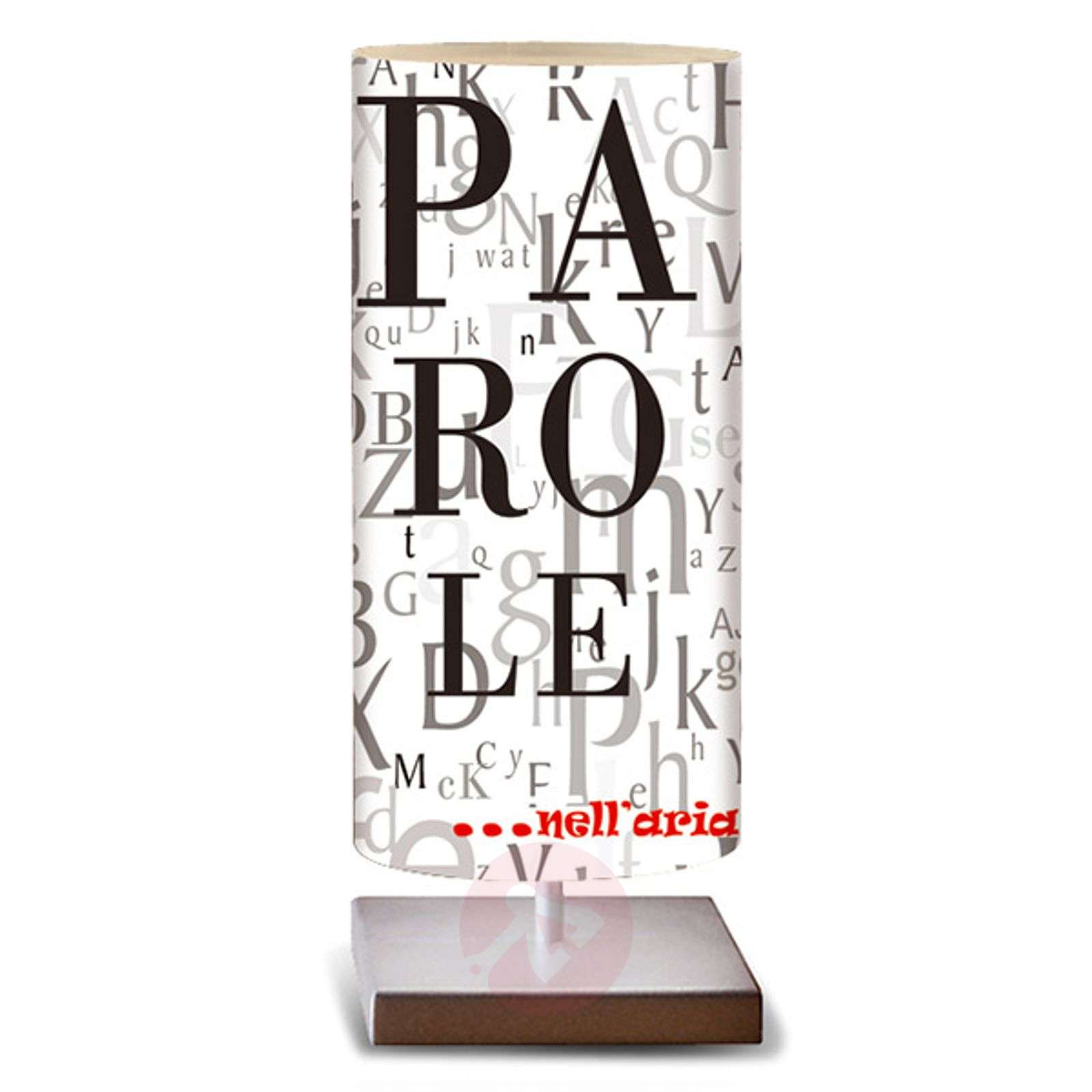 Black and white table lamp Words-1056089-01