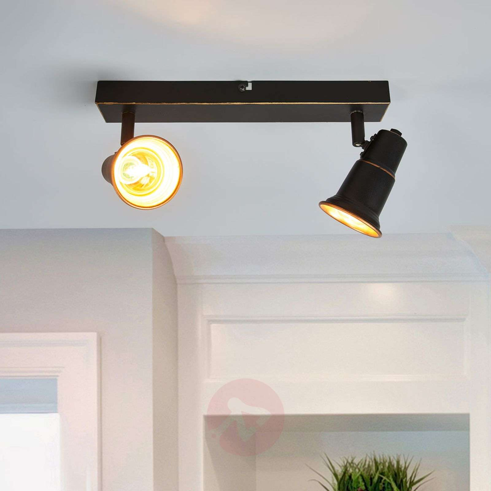Black ceiling light Arielle, two-bulb-9639102-01