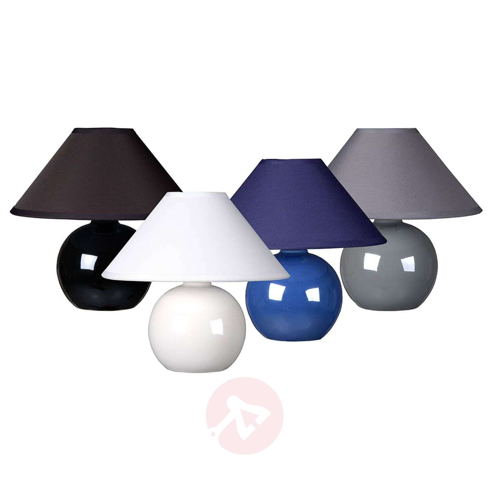 Black Faro table lamp with spherical base-6054943-01