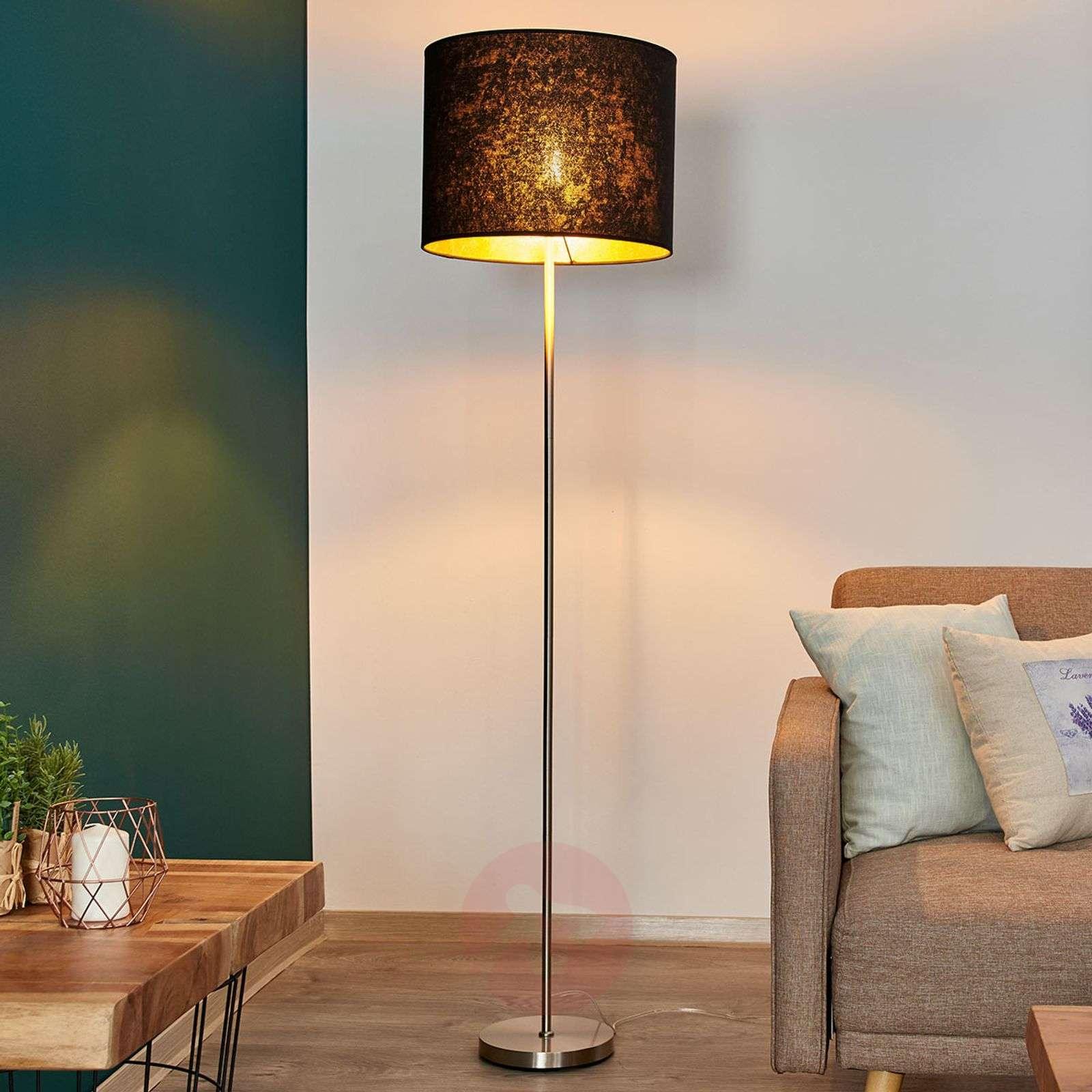 Black gold floor lamp salma 4018130 02