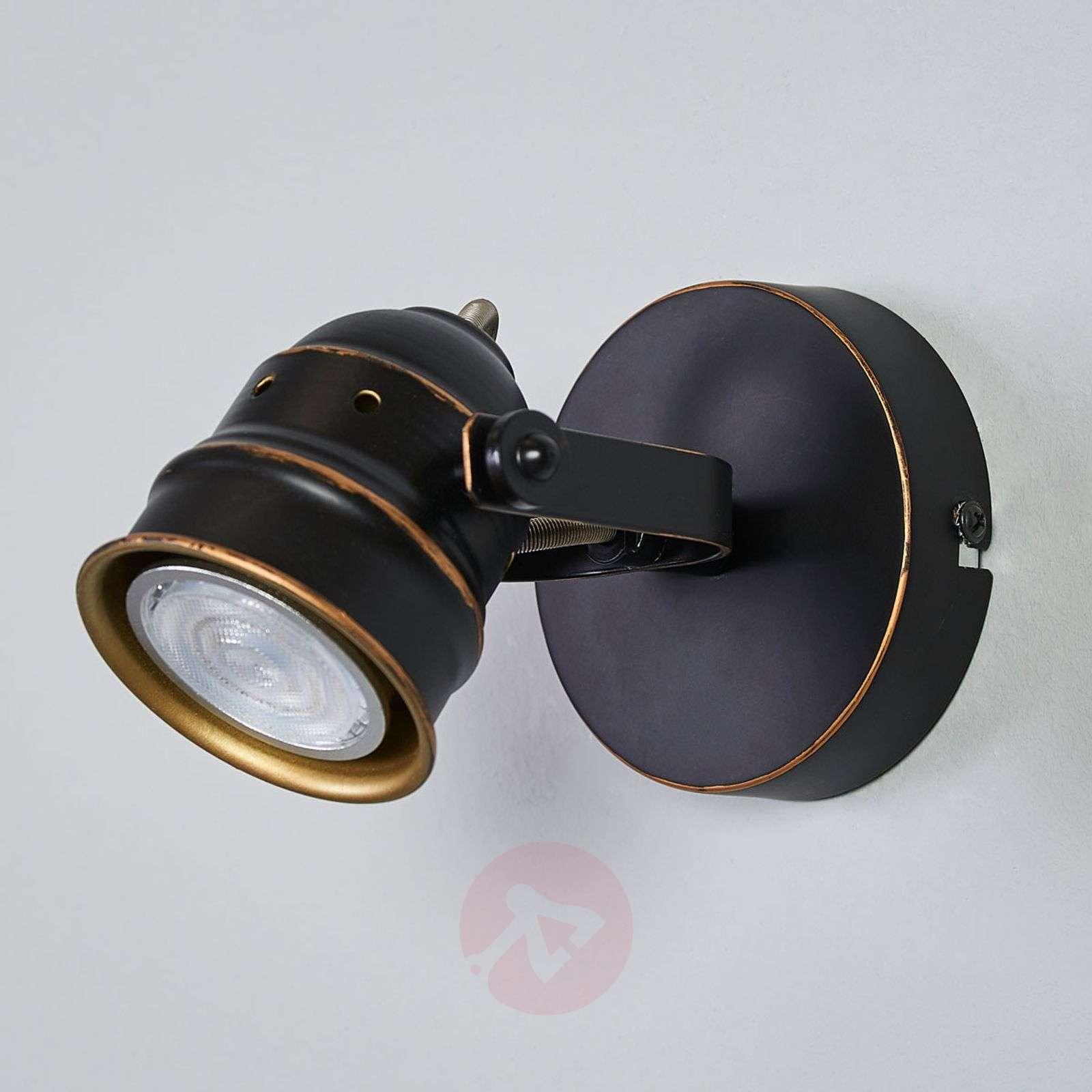 Black-gold GU10 spotlight Leonor, LED-9639066-01