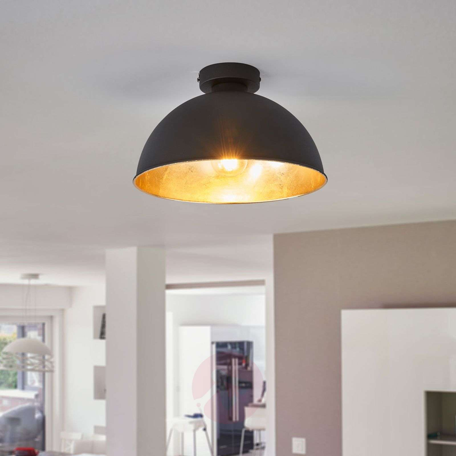 Black-gold Jimmy metal ceiling light-8029093-01