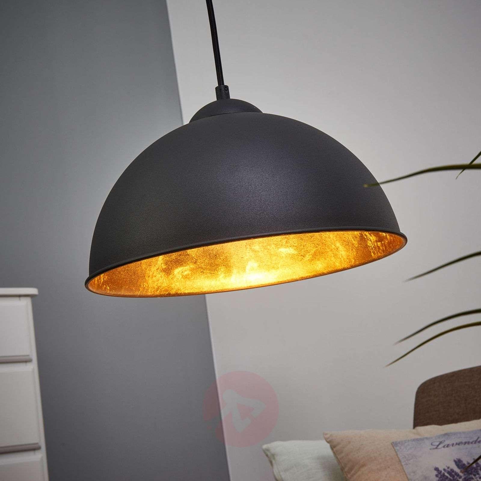 Black-gold Jimmy metal hanging light-8029090-04