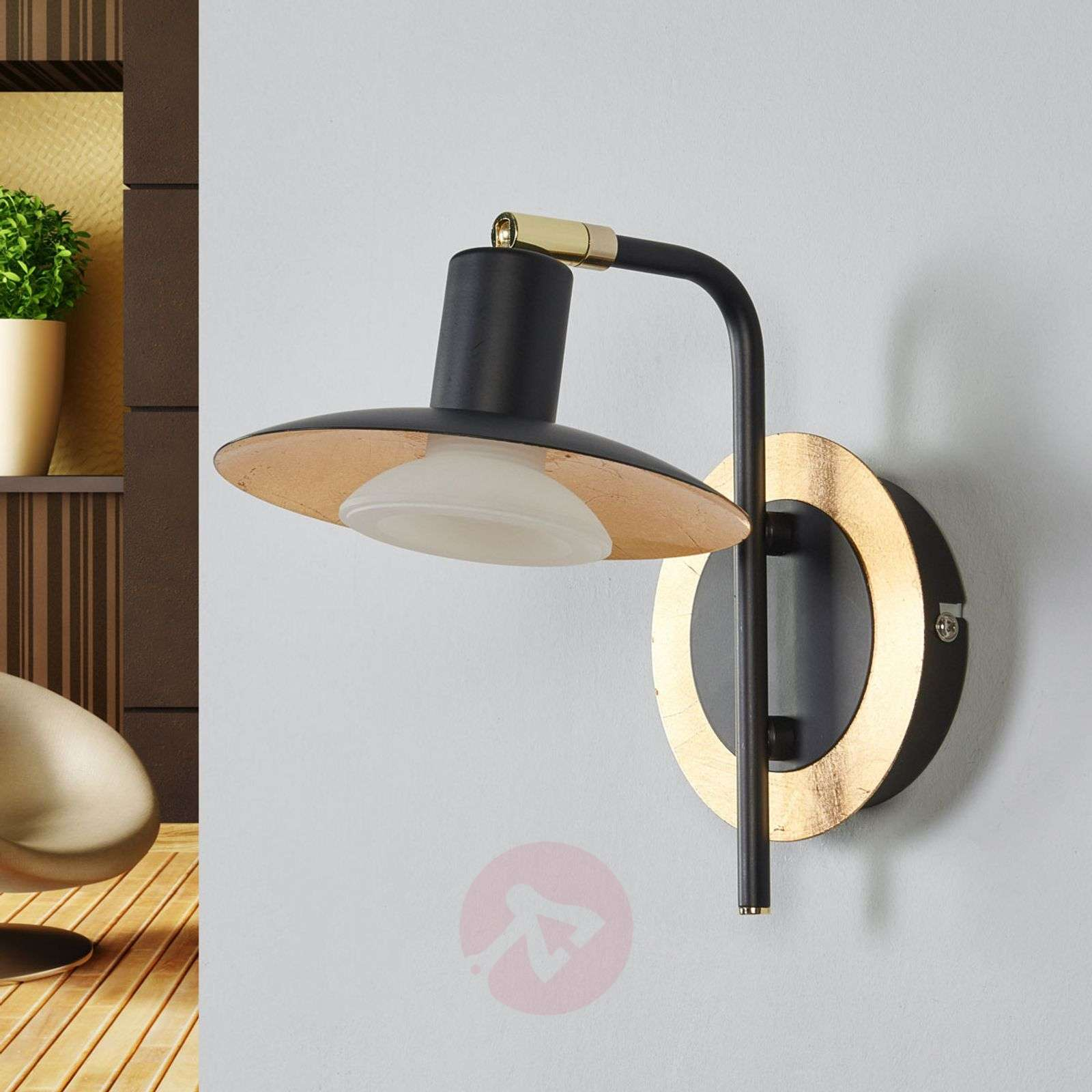 Black-gold LED wall lamp Andrej-9634039-01