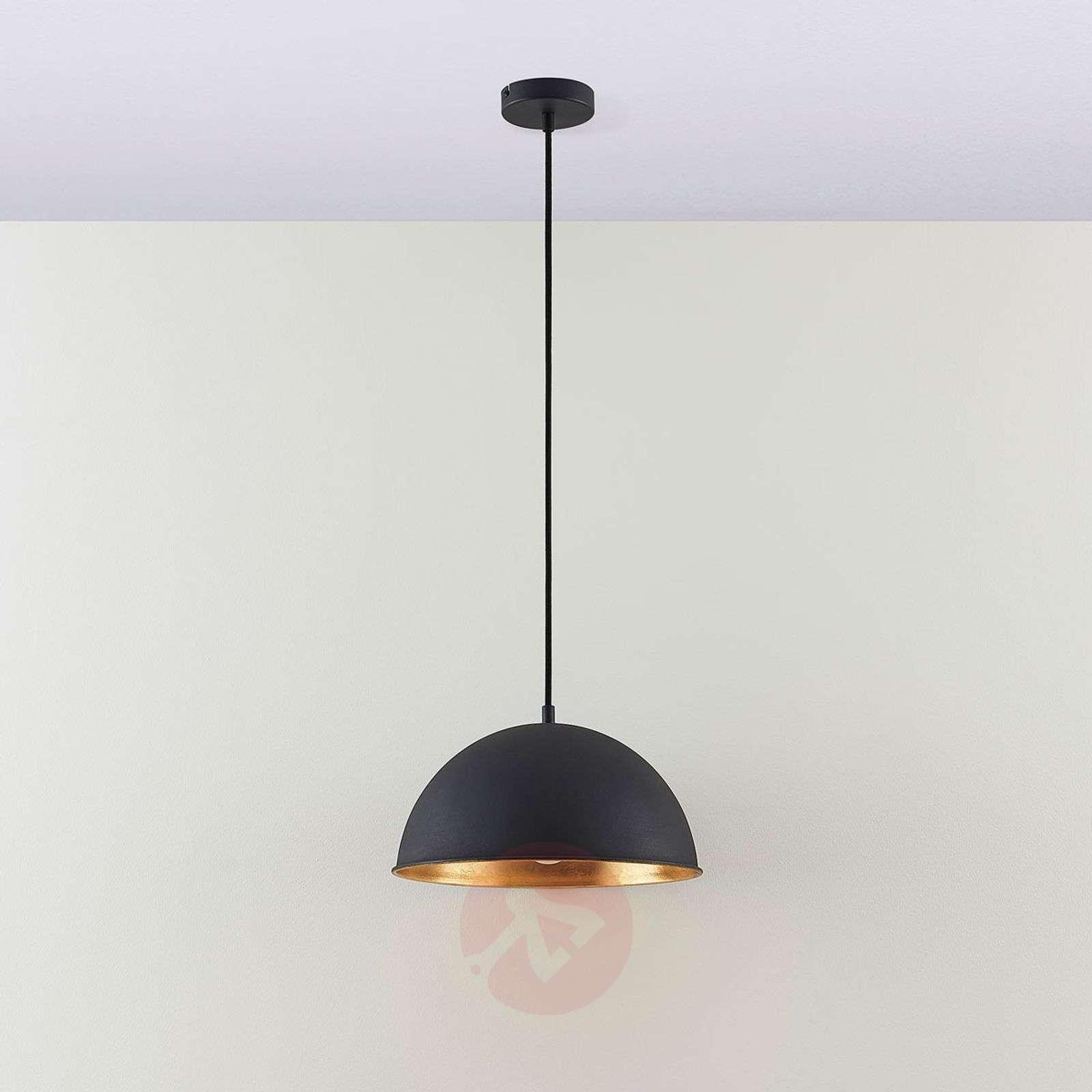 Black-gold pendant light Leya-9621366-02