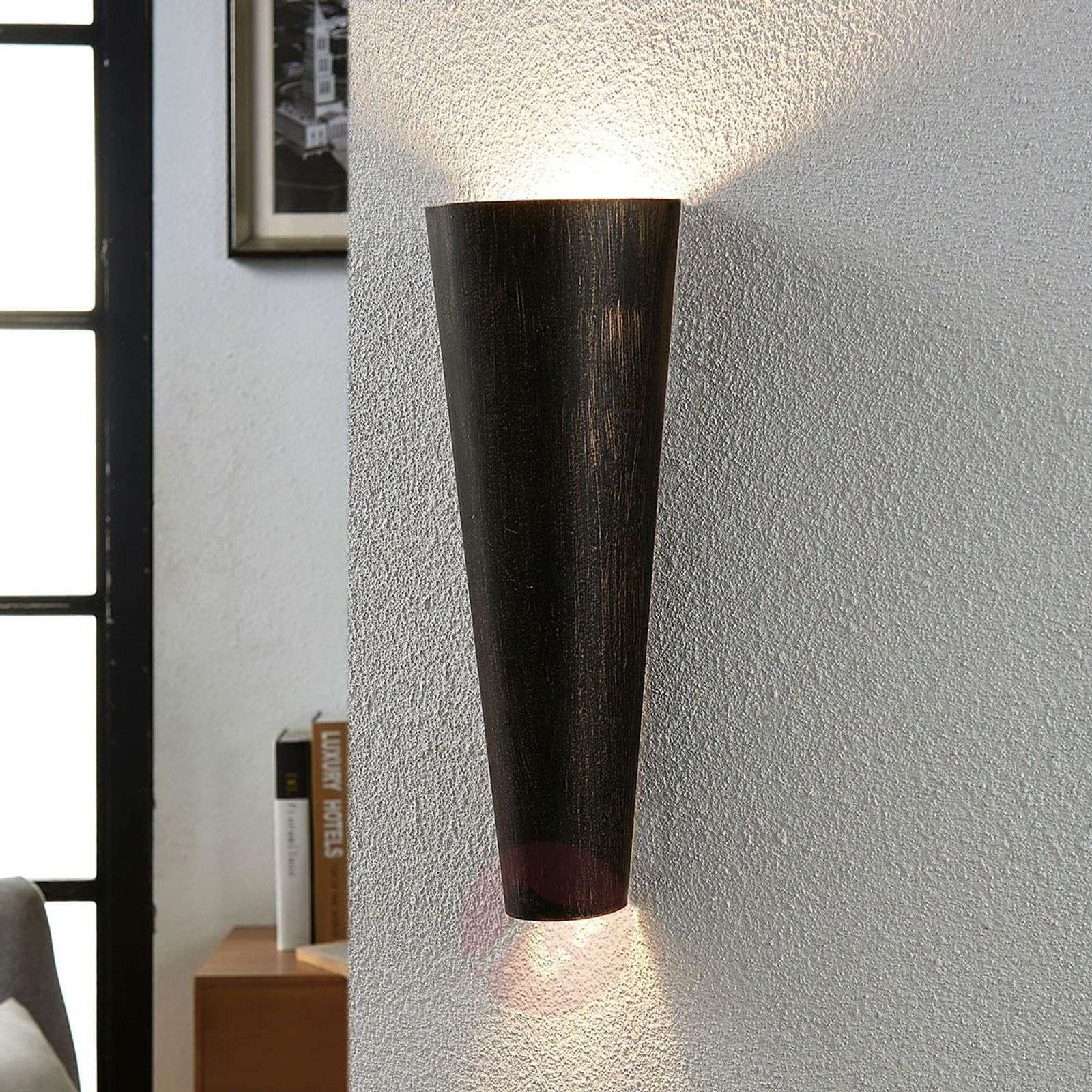 Black gold wall light Conan, indirect light-9620935-03