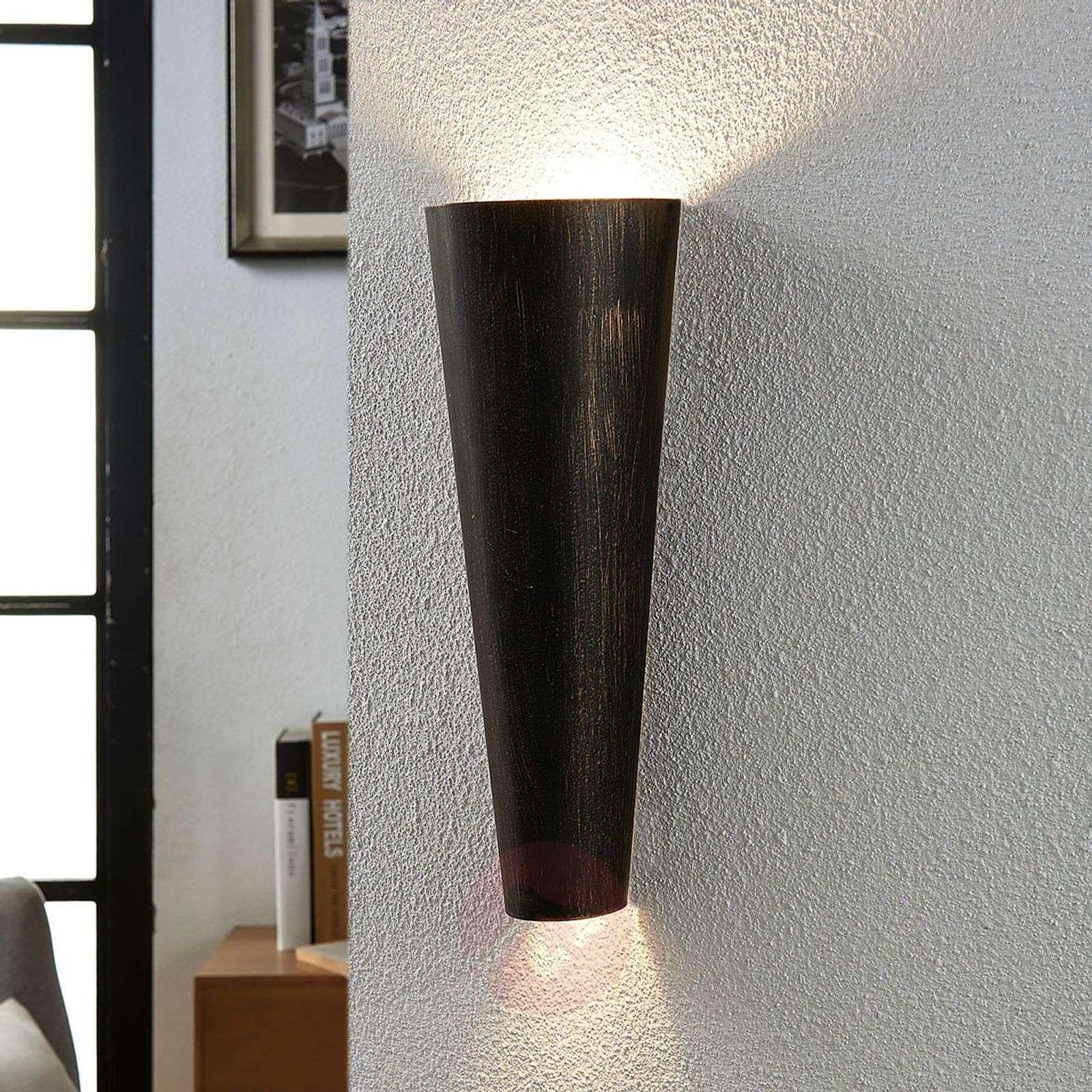 Black gold wall light Conan, indirect light-9620935-03