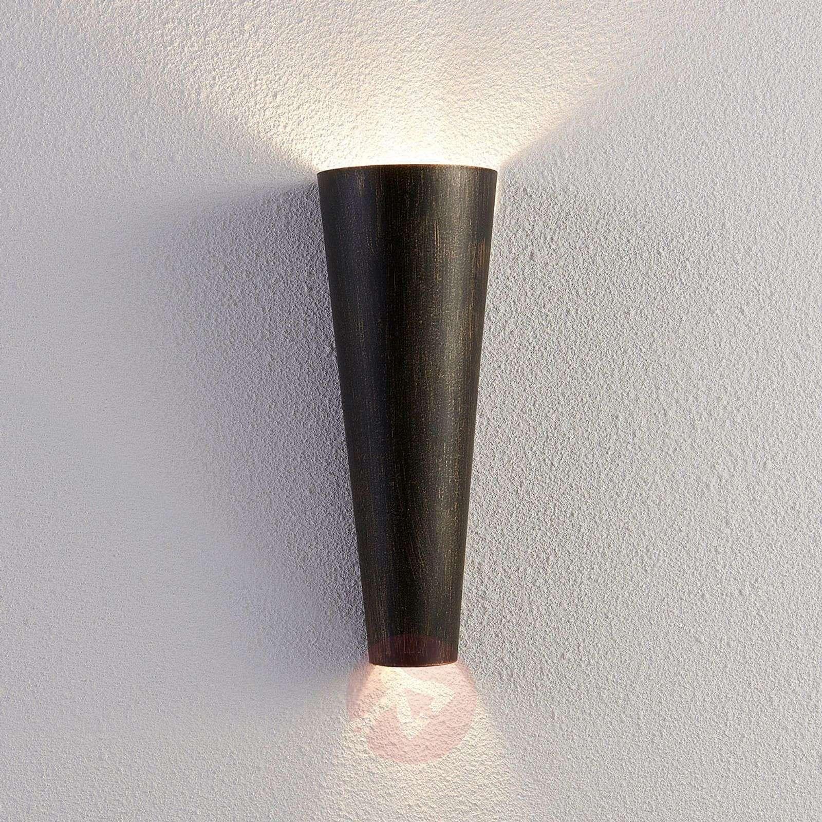 indirect wall lighting. Black Gold Wall Light Conan, Indirect Light-9620935-03 Lighting