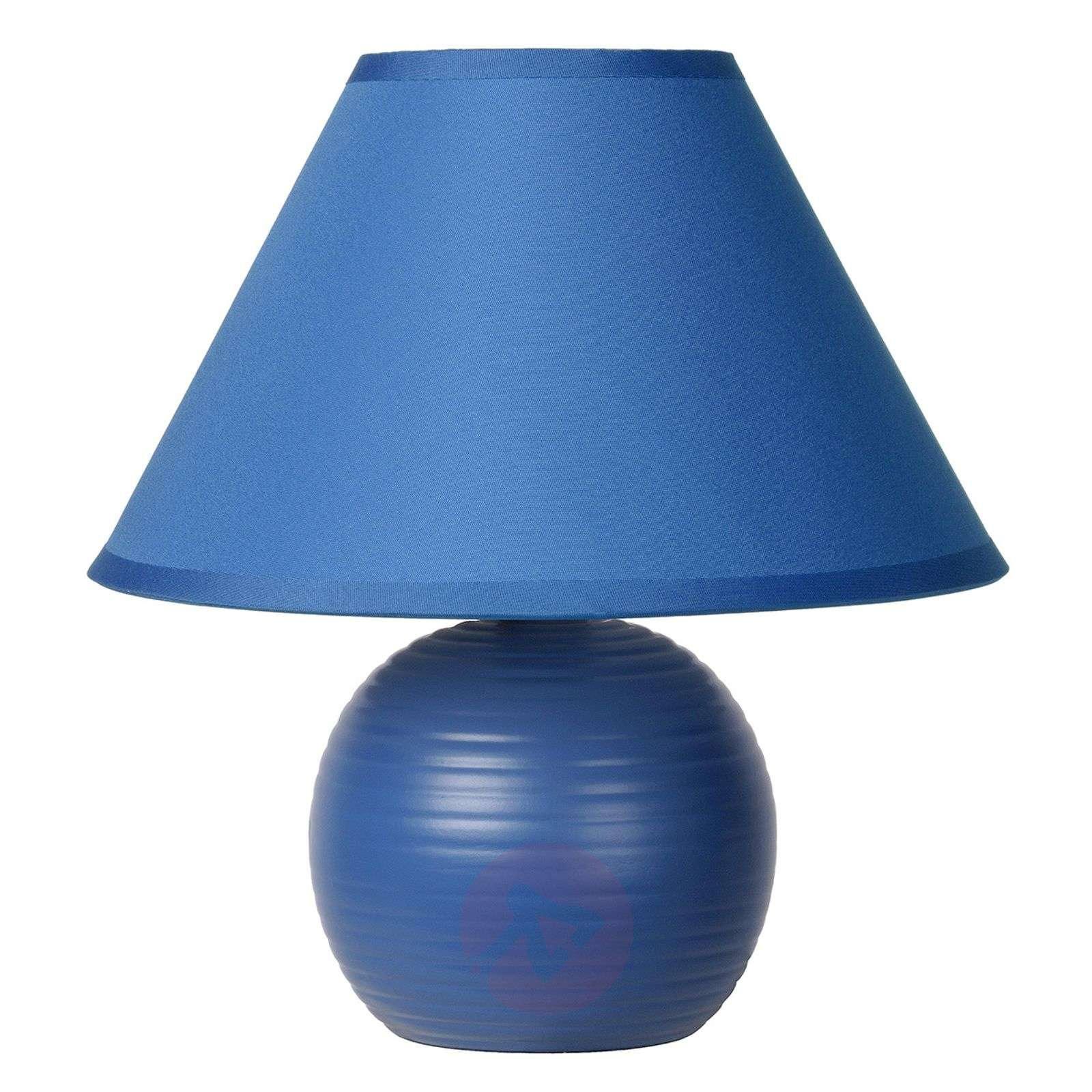 Blue fabric Kaddy table lamp-6054942-01