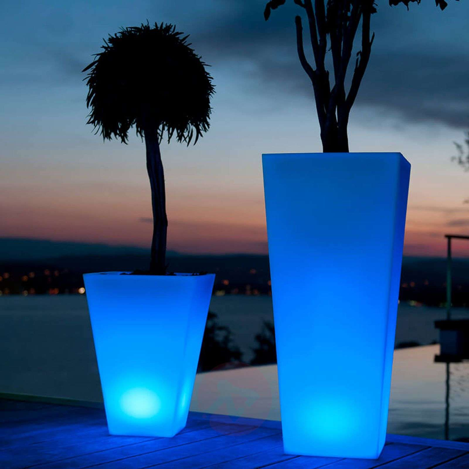 Bluetooth-controllable LED flower pot Rumba 50 cm-8590042-01