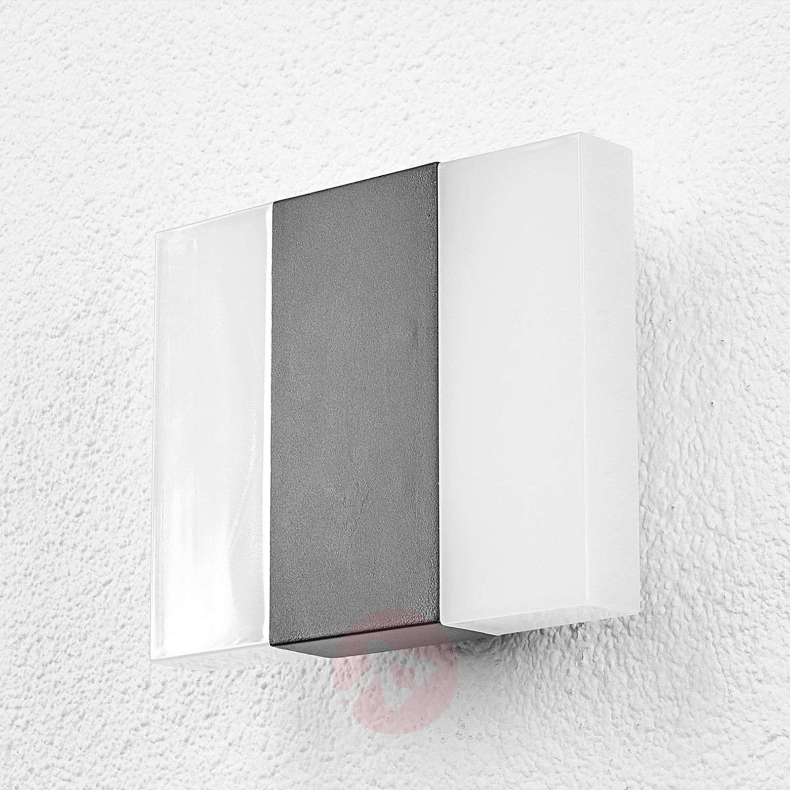 Börje LED outdoor wall light in a square shape-9647003-01