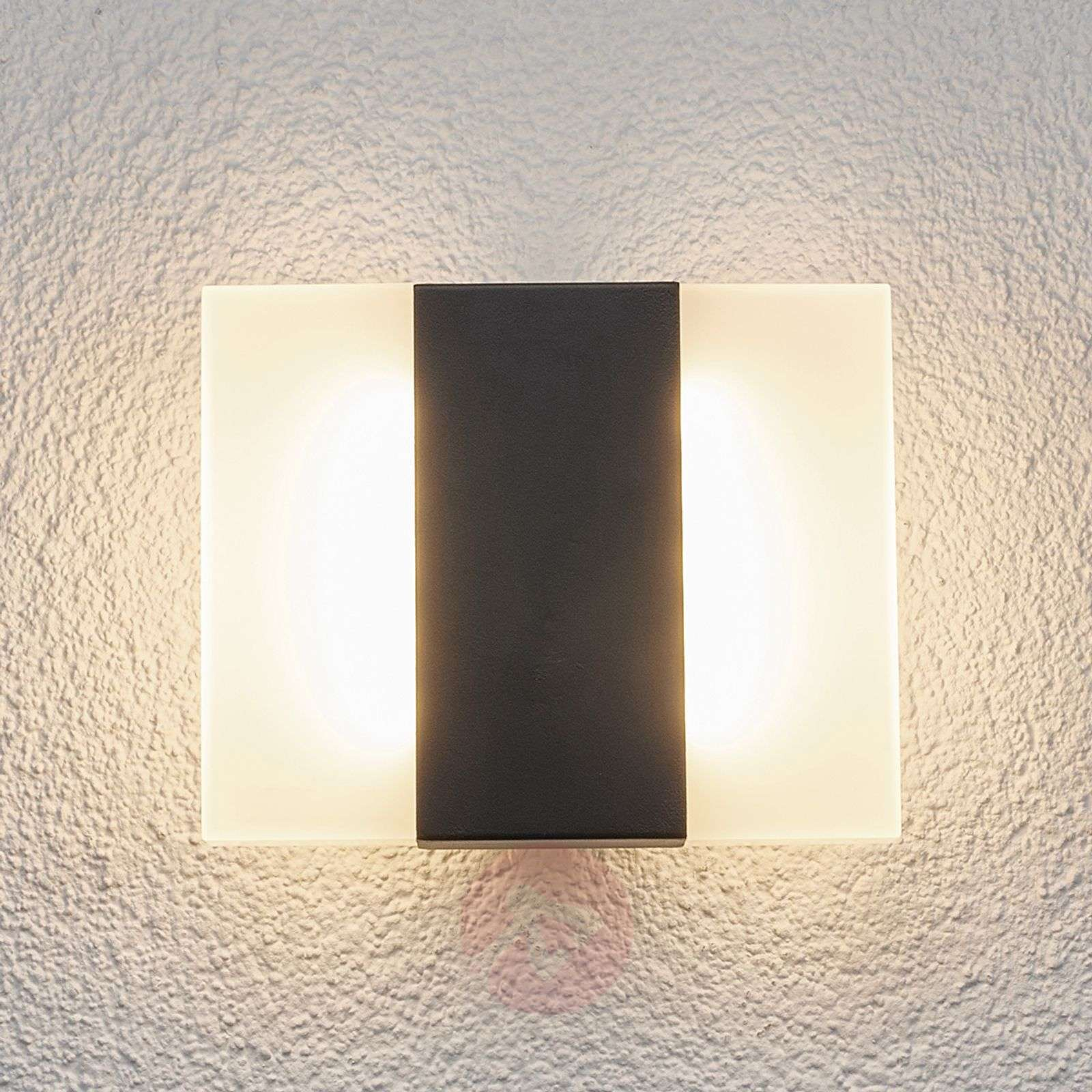 Brje led outdoor wall light in a square shape lights brje led outdoor wall light in a square shape 9647003 01 aloadofball Gallery