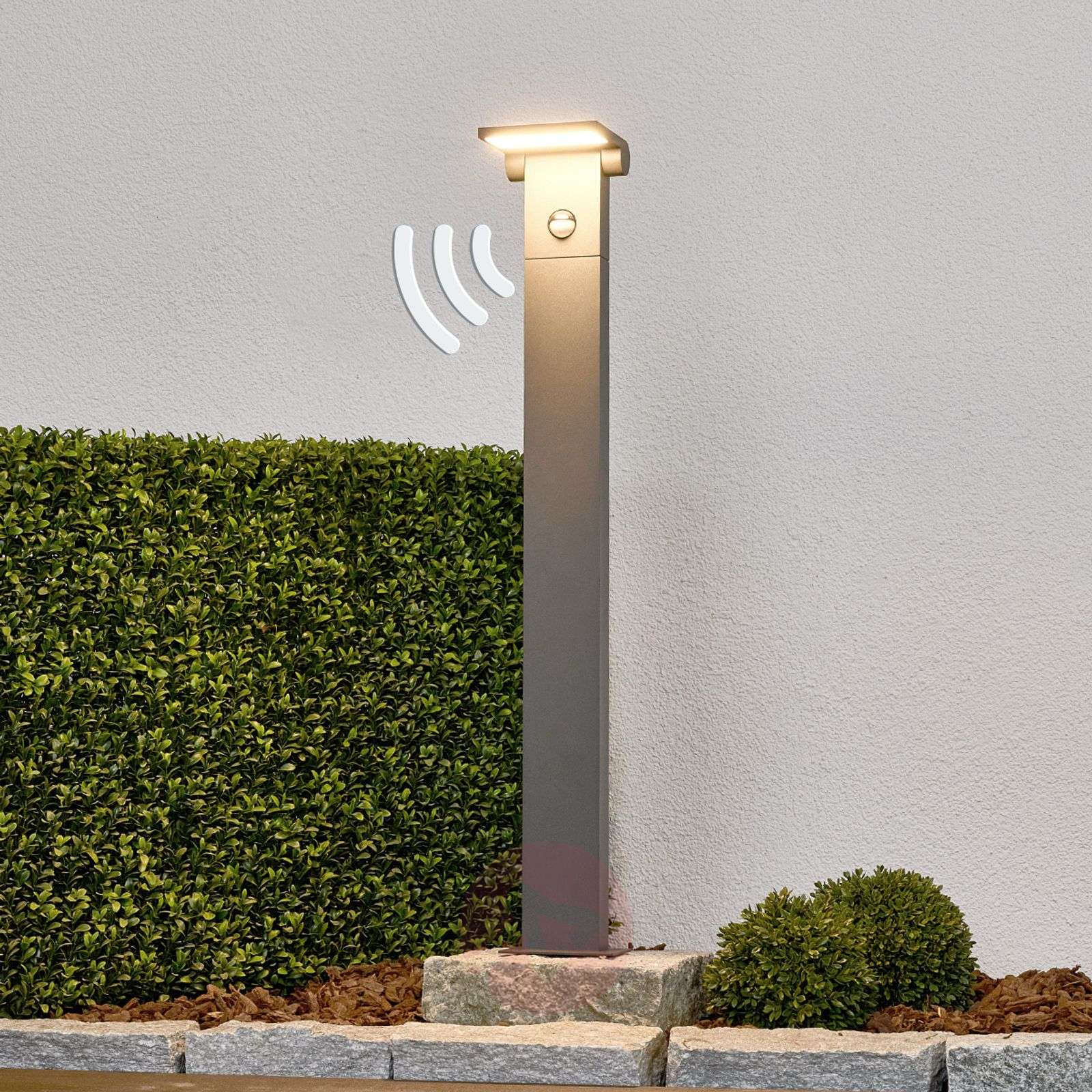 Bollard light Marius with motion detector, 80 cm-9619080-02