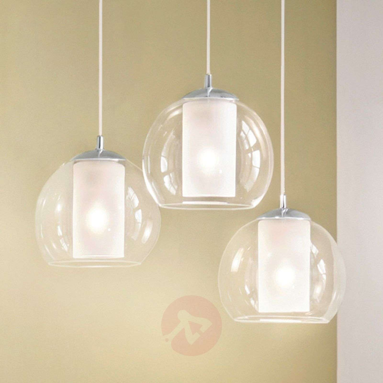 Bolsano 3-bulb glass hanging light-3031644-02